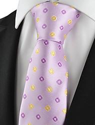 Gravata(Roxo / Amarelo,Poliéster)Estampado