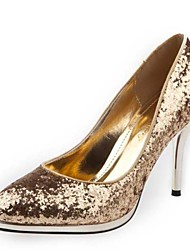 Women's Shoes Glitter Stiletto Heel Heels Heels Wedding / Party & Evening / Dress Black / Silver / Gold