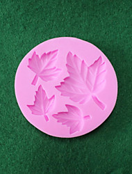 Silicone Double Sugar Cake Decoration Maple Leaf Liquid Silicone 3 D Die Real Food Grade Silica Gel
