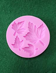 Silicone Double Sugar Cake Decoration Maple Leaf Liquid Silicone 3 D Die Real Food Grade Silica Gel