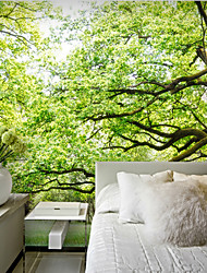 JAMMORY 3D Wallpaper For Home Contemporary Wall Covering Canvas Material TreesXL XXL XXXL