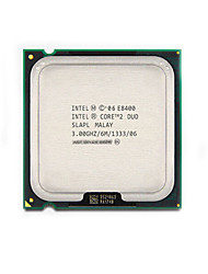 intel core E8400 2 duo dual-core lga 775 6mb cpu avec fonction de protection contre les virus