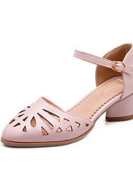 Women's Shoes Chunky Heel Heels / Round Toe Heels Office & Career / Dress Blue / Pink / White