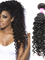 """1 pc / lot 12 """"-30"""" 7a peruanisches reines Haar tiefe Welle Menschenhaareinschlagfäden 100% unverarbeitetes peruanisches remy Haar spinnt"""