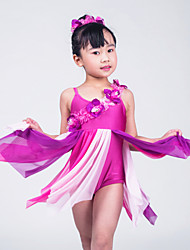 Ballet Dresses Women's / Children's Performance Lycra Flower(s) / Pleated As Picture Ballet / Modern Dance / Performance / Ballroom
