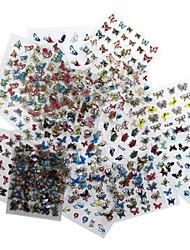 Pontas de Meia Unha / Pontas de Unha Completa / Autocolantes de Unhas 3D / Jóias de Unhas-Desenho Animado / Abstracto / Adorável- para