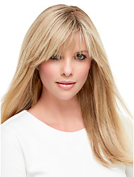 Long Length Straight Hair European Weave Light Blonde Hair Wig