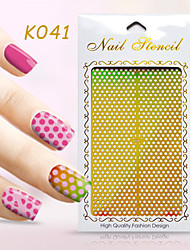 New Nail Art Hollow Stickers Colorful Geometric Shape  Design  Nail Beauty K041-050