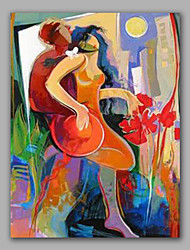 Abstract Painting Happy Lover Stretched Painting Ready To Hang