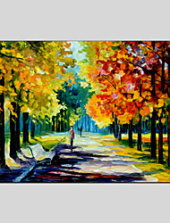 Modern Landscape Rainy Street Canvas Material Oil Paintings With Wooden Stretcher Ready To Hang  Size 60*90CM