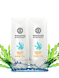 Dabao® Sunscreen General Facial Whitening Cream Emulsion Waterproof Outdoor UV Protection SPF20 PA++ 2Pcs