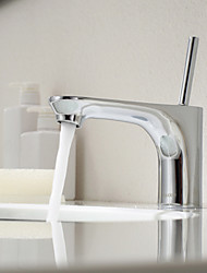 Single Handle Mixer Tap Bathroom Sink Faucet Chrome Finish