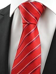 Krawatte(Rot,Polyester)Gestreift