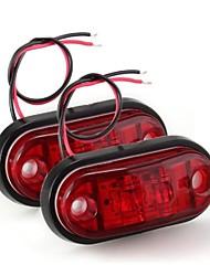 2 x llevó la luz de bulbo de la lámpara intermitente lateral 24v dc un coche rojo