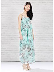 Meters/bonwe Women's Strap Sleeveless Maxi Dress-233944