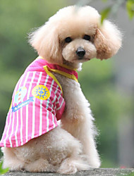 Comfortable Mesh Stripe Printing Pet T-shirt