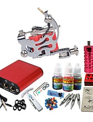 Basekey Tattoo Kit JH550  Machine With Power Supply Grips 10ML Ink