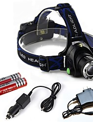 Lights Headlamps LED 2000 Lumens 3 Mode Cree T6 18650Adjustable Focus / Rechargeable / Impact Resistant / Emergency / Super Light / High