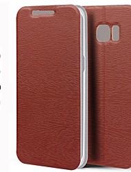 Für Samsung Galaxy S7 Edge mit Halterung / Flipbare Hülle Hülle Handyhülle für das ganze Handy Hülle Einheitliche Farbe PU - Leder Samsung