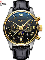 Carnival® Watch Six Eye Three Pin Multi-Function Fully Automatic Machine Table Retro Rome Fine Steel Men's Watch Cool Watch Unique Watch
