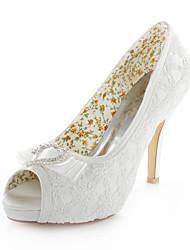 Women's Wedding Shoes Heels / Peep Toe / Round Toe Sandals Wedding / Party & Evening / Dress Ivory