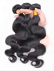 3pcs viele malaysische reine Haarkörperwelle natürliches schwarzes malayKörperWellen-Menschenhaarverlängerungen