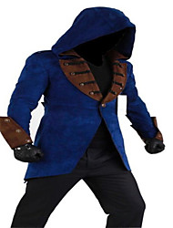 Cosplay Costumes More Costumes Movie Cosplay Black / Blue Patchwork Coat / Hat Halloween / Christmas / New Year Male