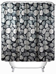 "Modern Cobblestone Polyester Shower Curtains W71""×L71"""