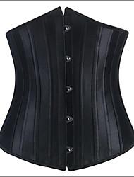 Serre Taille Vêtement de nuit Femme Couleur Pleine Polyester / Satin / Spandex Noir Aux femmes
