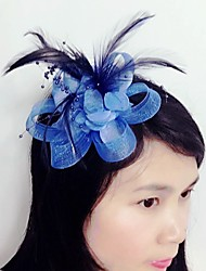 Women's Feather Tulle Net Headpiece-Wedding Special Occasion Fascinators 1 Piece
