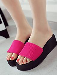 Customized Materials Spring Summer Fall Casual Outdoor Dress Flat Heel Black Ruby