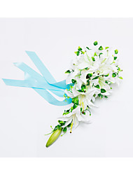 "Wedding Flowers Cascade Lilies Bouquets Wedding Party/ Evening Satin 19.7""(Approx.50cm)"
