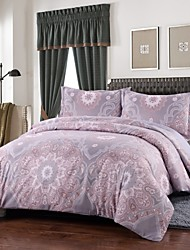Simple Opulence Duvet Cover Set Microfiber luxury Printed Lavender Include Quilt Cover Pillow Cases Queen King