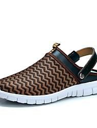Scarpe da uomo-Sneakers alla moda-Tempo libero / Casual / Sportivo-Tessuto-Nero / Blu / Grigio