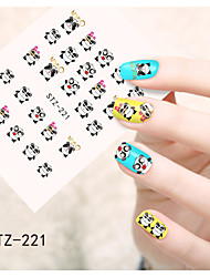 1pcs  Water Transfer Nail Art Stickers  Flower Lovely Cartoon  Nail Art Design STZ221-230