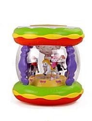 golpe del tambor de juguete de plástico de música rojo / verde / amarillo / púrpura
