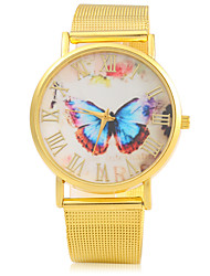 Women's Fashion Watch Quartz Alloy Band Butterfly Gold Brand