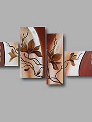 "gestreckt (fertig zum Aufhängen) bemalt Hand Ölgemälde 64 ""x40"" Leinwand Wandkunst moderne Blumen braun"