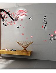 Botanical / Still Life / Florals Wall Stickers Plane Wall Stickers,pvc 60*90cm