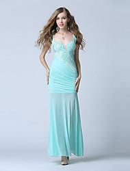 Formal Evening Dress Trumpet/Mermaid V-neck Ankle-length Chiffon