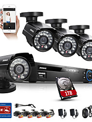 annke kit di sicurezza DVR 800tvl 960H hdmi 8ch ir intemperie sistema di sicurezza domestica macchina fotografica cctv all'aperto
