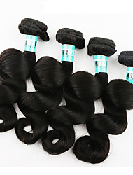 "4 Pcs /Lot 5A 12""-28"" Brazilian Virgin Hair Loose Wave Human Hair Weaves"