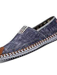 Zapatos de Hombre Mocasines Casual Lino Negro / Azul Marino / Caqui