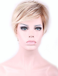 Europe and the United States Blonde Short Synthetic Wig Hair Factory Spot Wholesale