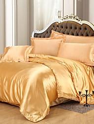 Silk Bedding Set,Home Textile King Queen Size,bedclothes,Duvet Cover Flat Sheet Pillowcases
