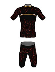 MYKING Men's Cycling Bike Short Sleeve Clothing Set Bicycle Wear Suit Jersey and Shorts Magma