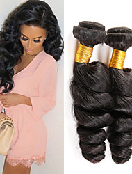 """top 1pcs qualité / lot 8 """"-26"""" cheveux vierges peruvian vague lâche 1b naturel noir cheveux # humain tisse"""