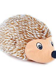 Коты / Собаки Игрушки для животных Плюшевые игрушки Скрип / Ёж Коричневый Текстиль