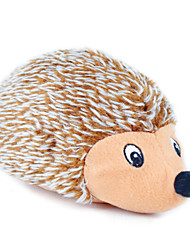 Juguete para Gato Juguete para Perro Juguetes para Mascotas Peluches Chirrido Erizo Textil Marrón