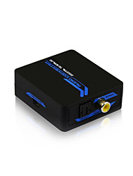 Digital Coax & Optical Toslink to Analog L/R 3.5mm PhoneJack Audio Converter with CE FCC RoSH Certificates